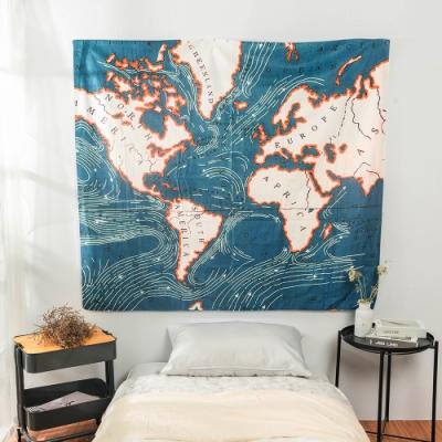 樂嫚妮 裝飾掛毯/掛布/門簾/桌巾-地圖 150X130cm