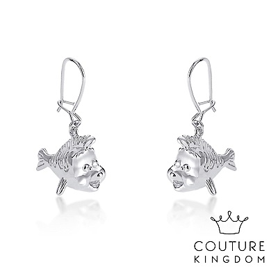 Disney Jewellery by Couture Kingdom 小比目魚鍍白金耳環
