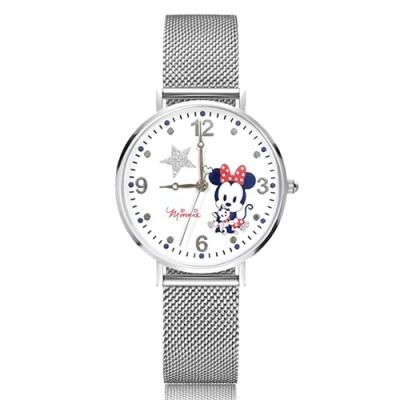 Disney迪士尼 米蘭帶手錶 Q版米妮 貓咪費加洛34mm