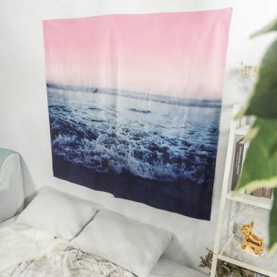 樂嫚妮 北歐裝飾掛毯/掛布/門簾/桌巾-大海 150X130cm