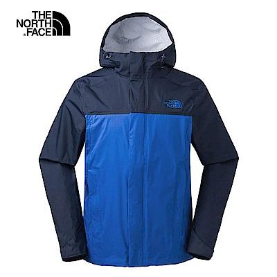 The North Face北面男款深藍防水透氣防風外套| 2 XTB 1 SK