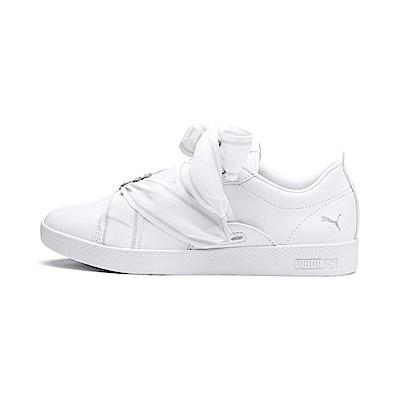 PUMA-SmashWnsBuckle女性復古網球運動鞋-白色