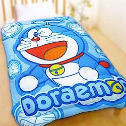 享夢城堡 刷毛暖暖毯被150x195cm-哆啦A夢DORAEMON 百變哆啦-藍