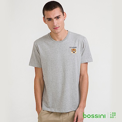 bossini男裝-圓領短袖T恤12淺灰