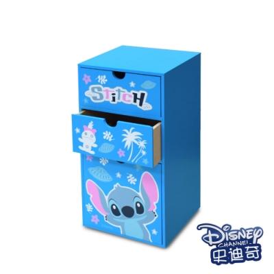迪士尼Disney 史迪奇 直立式三抽盒 抽屜盒 置物盒 美妝收納 桌上收納