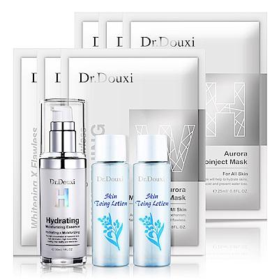 Dr.Douxi朵璽 玻尿酸精華液30ml+健康水30ML*2送雪肌面膜*3+保水面膜*3