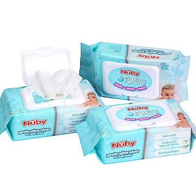 Nuby 食鹽水柔濕巾-80抽/3包(0M+)