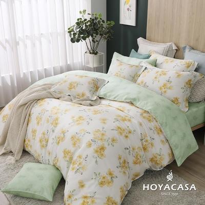 【HOYACASA 】雙人抗菌天絲兩用被床包四件組-薇拉