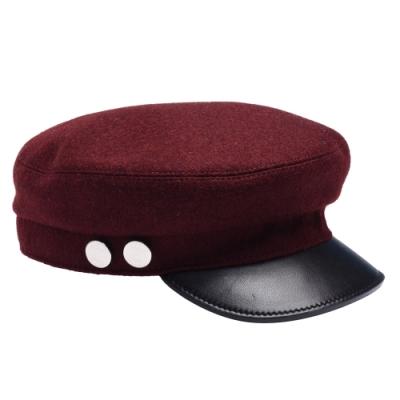 HERMES Beret & Huting系列造型警察帽(酒紅)