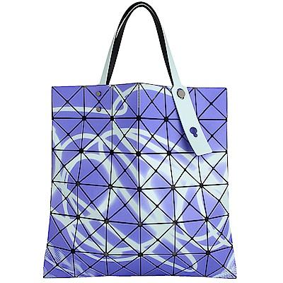 ISSEY MIYAKE 三宅一生BAOBAO霓光三角方格6x6透光手提包(紫)