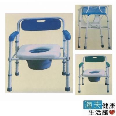 好家機械椅 未滅菌 海夫健康生活館 台灣製 塑背 軟墊 折疊式 烤漆便器椅 便盆椅 A120