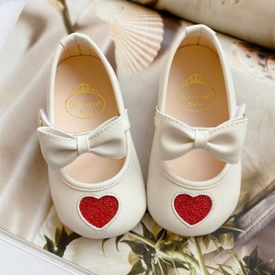 Swan天鵝童鞋-愛心學步寶寶鞋1613-米