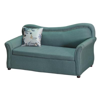 綠活居 費尼時尚灰棉麻布貴妃椅-181x84x91cm免組