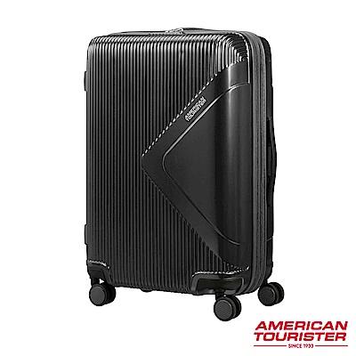 AT美國旅行者 25吋Modern Dream都會光澤防刮耐磨硬殼TSA行李箱(碳黑)