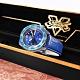 SEIKO 精工 限量款 5 Sports 機械錶 快打旋風 春麗 小牛皮壓紋手錶-藍色/41mm product thumbnail 1