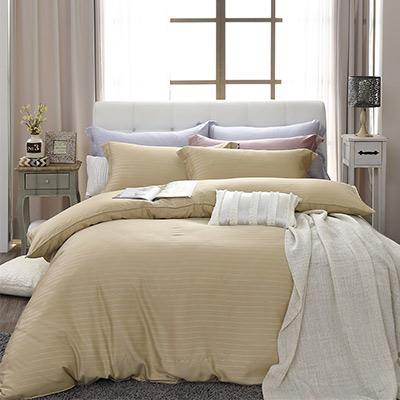 LASOL睡眠屋-100%奧地利天絲 特大兩用被床包四件組自然純色晨曦金