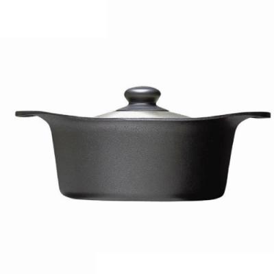 柳宗理 南部鐵器 雙耳深鍋 22cm (附蓋)