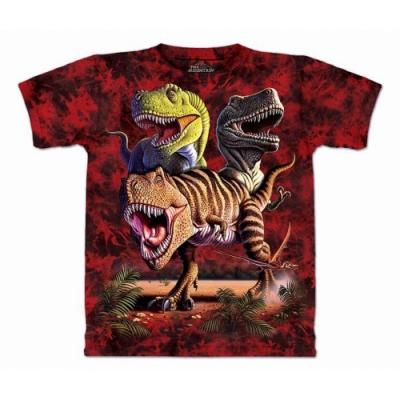 摩達客-預購-美國進口The Mountain 雷克斯龍群 兒童版純棉環保短袖T恤