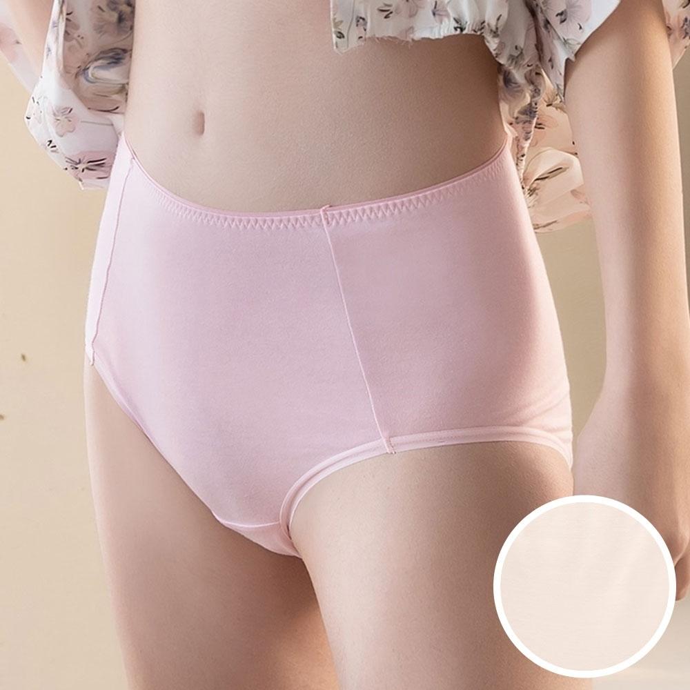 華歌爾 茶葉碳纖維 M-3L中高腰三角褲(奶泡黃) 吸濕排汗 快乾消臭 環保抑菌