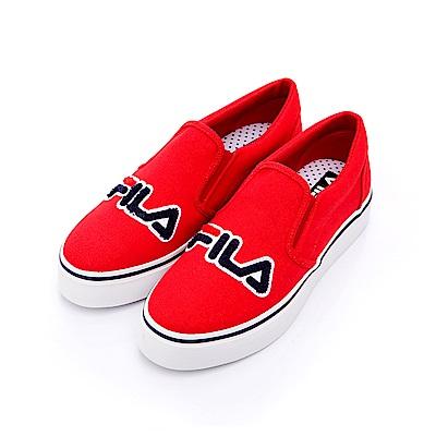 FILA 女款帆布休閒鞋-紅 5-C602S-221