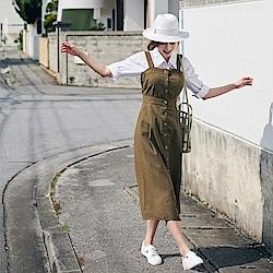 渡假排釦長洋裝