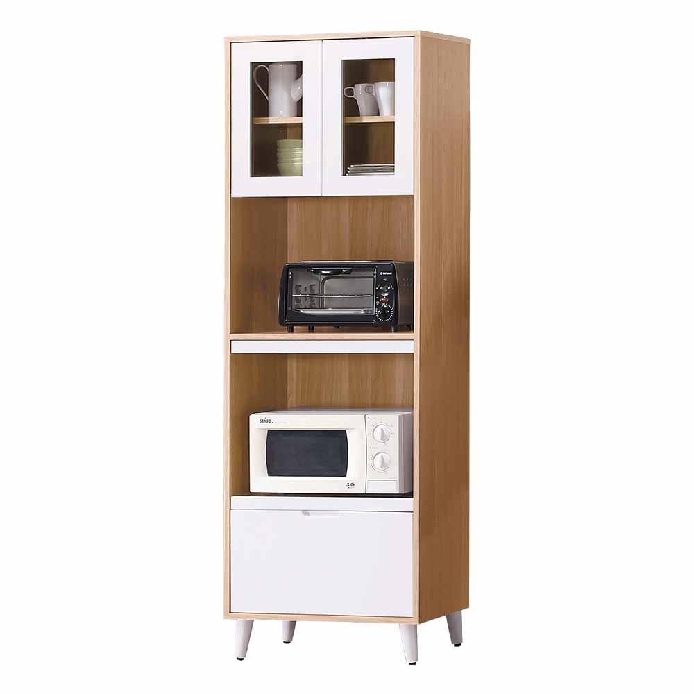 Boden-伊甸2尺北歐風收納高餐櫃/碗盤置物櫃/電器櫃-60x40x182cm