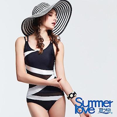 夏之戀SUMMERLOVE 時尚顯瘦大女連身三角泳衣