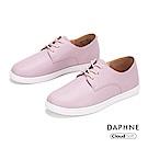 達芙妮DAPHNE 休閒鞋-經典潮流純色綁帶休閒鞋-紫