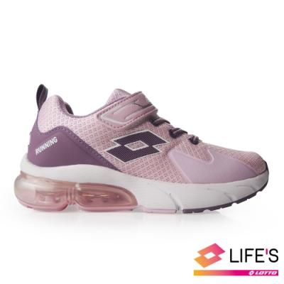 LOTTO 義大利 童 VOLARE RUN 氣墊跑鞋 (粉紅)