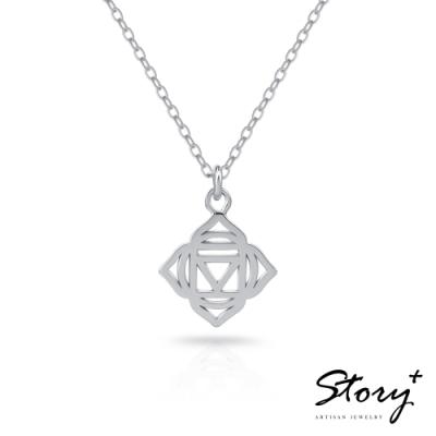 STORY故事銀飾-脈輪系列-海底輪Root Chakra 純銀鎖骨鍊
