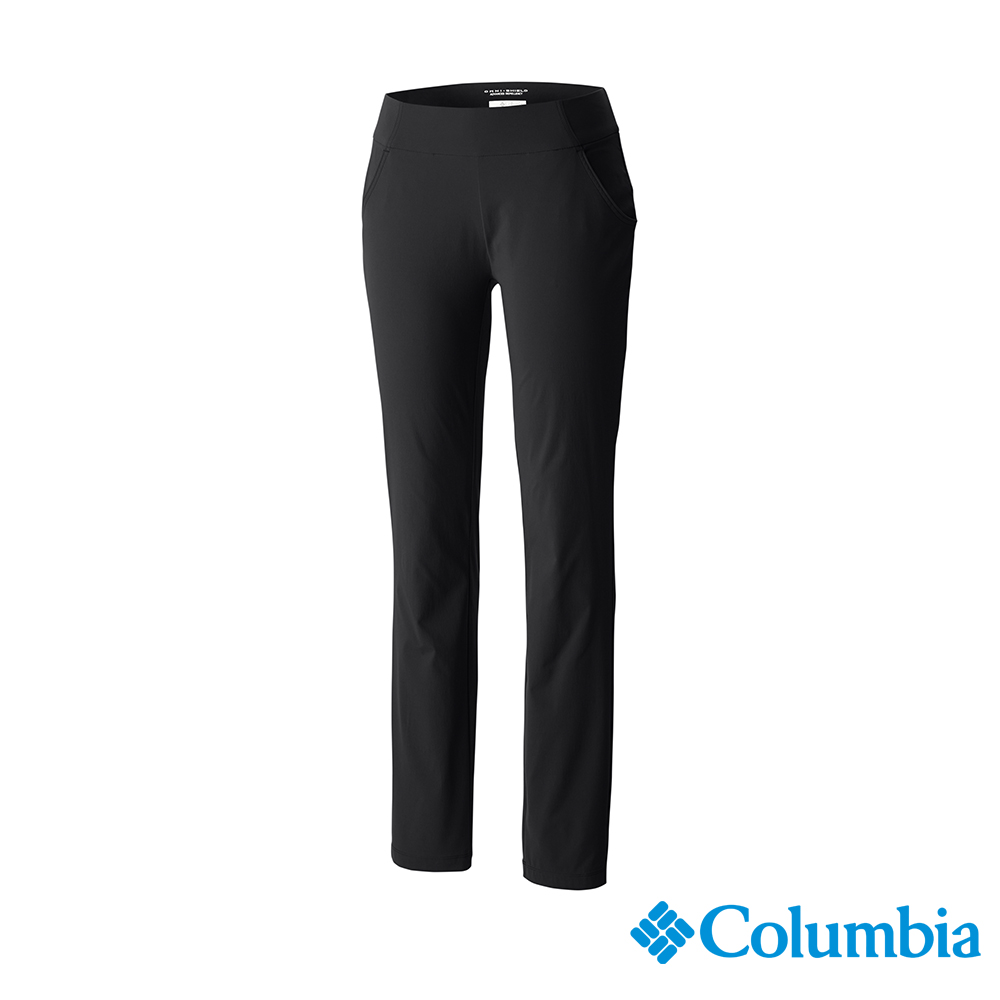 Columbia 哥倫比亞 女款-防曬UPF50防潑長褲-黑色 UAK07820BK