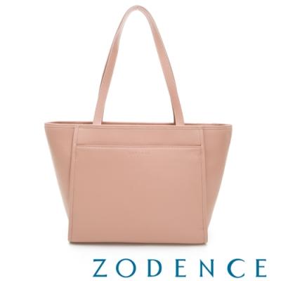 ZODENCE BASIC系列進口牛皮托特包 粉色
