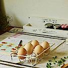 Homely Zakka 工藝美感鐵線手工製蛋架(乳白色)