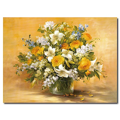 橙品油畫布-單聯式直幅 掛畫大無框畫-欣欣向榮-80x60cm