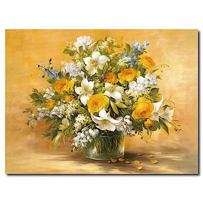 橙品油畫布-單聯式橫幅 掛畫大無框畫-欣欣向榮-80x60cm
