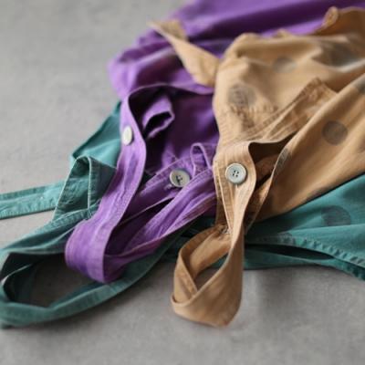不會撞衫的顏色波點印花純棉背帶連身九分褲-設計所在