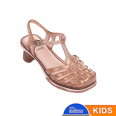 Melissa 公主小高跟漁夫鞋-兒童款-粉膚