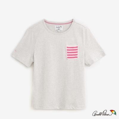 Arnold Palmer-女裝-口袋花紗短袖上衣-淺灰