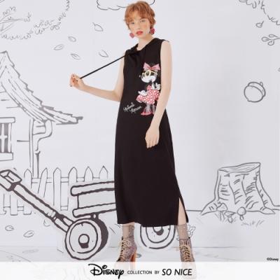SO NICE-個性米妮造型羅馬布洋裝