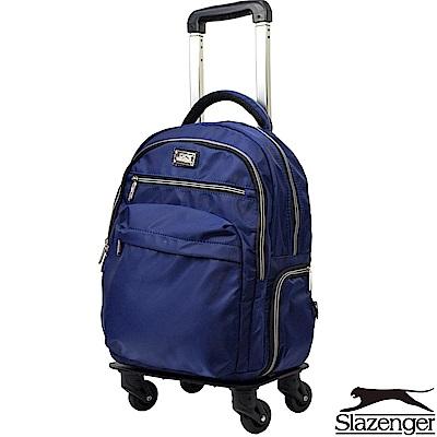 Slazenger 史萊辛格 16吋可拆式拉桿後背包(藍)