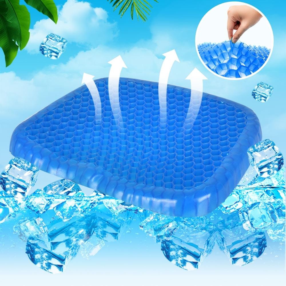 Egg Sitter 蜂巢式凝膠水感降溫冰涼墊/坐墊 (藍)_2入組