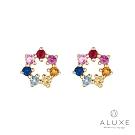 ALUXE 亞立詩 10K繽紛彩色寶石耳環