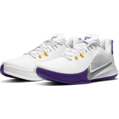 NIKE 籃球鞋 包覆 明星款 緩震  男鞋 白紫 CK2088101 MAMBA FURY EP