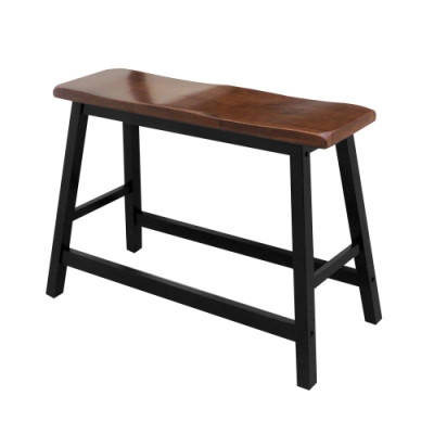 Bernice-夏菲2.8尺黑色實木吧台椅/高腳椅/休閒椅-83x23x60cm