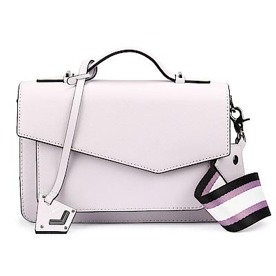 botkier Cobble Hill 拼接防刮皮革手提/斜背二用風琴包-薰衣紫色