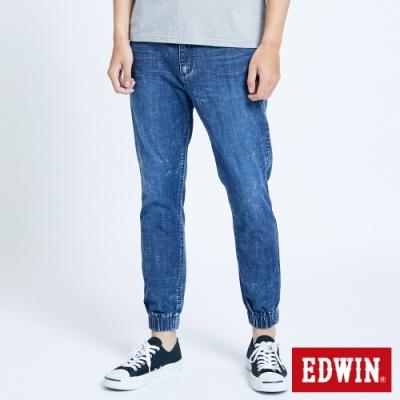 EDWIN 503 輕柔舒適 五袋式束口牛仔褲-中性-中古藍