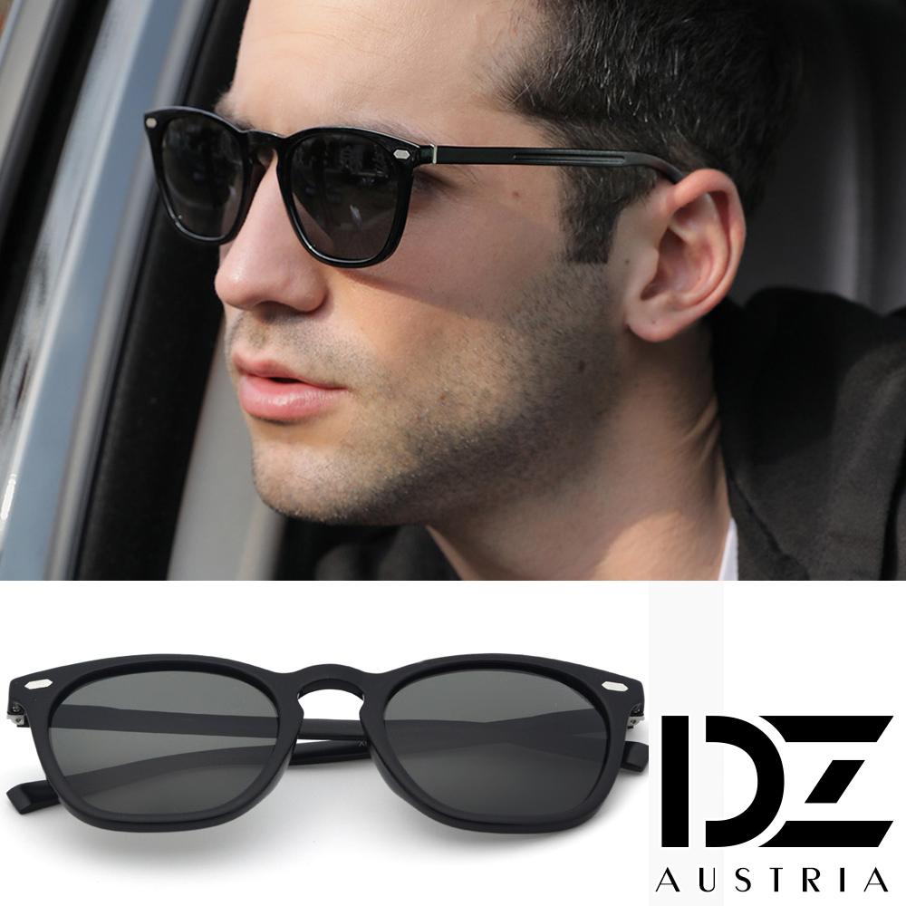 DZ 貴族鋁鎂鏡腳 防曬偏光 太陽眼鏡墨鏡(亮黑框)