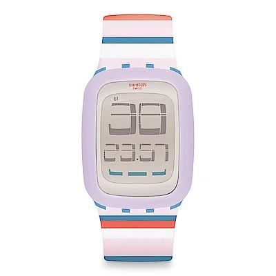 Swatch TOUCH系列 TENDINA 粉彩天空手錶