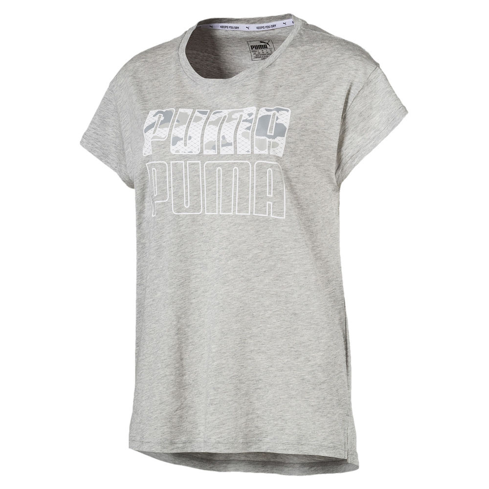 PUMA-女性基本系列Modern Sport短袖T恤-淺麻花灰-亞規