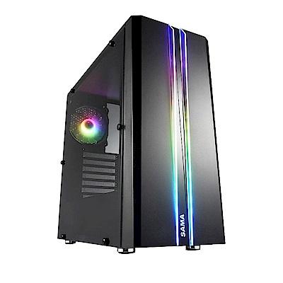 微星B450平台[炫彩元帥]R5四核GT710獨顯SSD電玩機